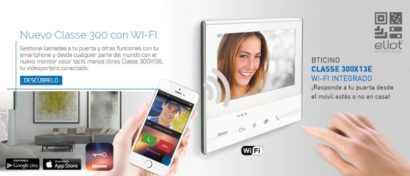 Imagen bodegon monitor videoporteros ClASSE300X13E Wi-Fi