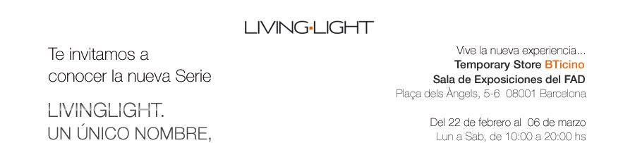 Imagen cabecera newsletter mailing Temporary Store Livinglight interruptores de diseñ y domótica en el FAD Barcelona