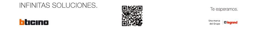 Imagen footer código QR soluciónes en interruptores de diseño y domótica Bticino