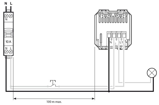 Esquema de conexión sensores infrarros y ultrasonido de BTicino, Eficiencia energética