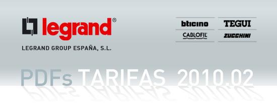 Nuevas Tarifas 2010 02 Legrand Group Espa A Voltimum